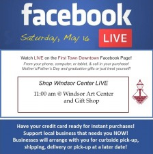 Shop Windsor Center Live on Facebook